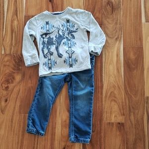 GAP Jeans & Gymboree LS Shirt Boys 3T